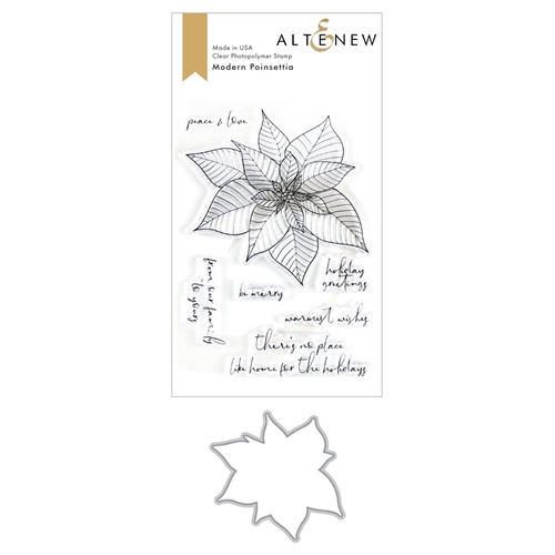 Altenew MODERN POINSETTIA Clear Stamp and Die Bundle ALT3495 Preview Image