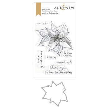 Altenew MODERN POINSETTIA Clear Stamp and Die Bundle ALT3495