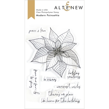 Altenew MODERN POINSETTIA Clear Stamps ALT3492