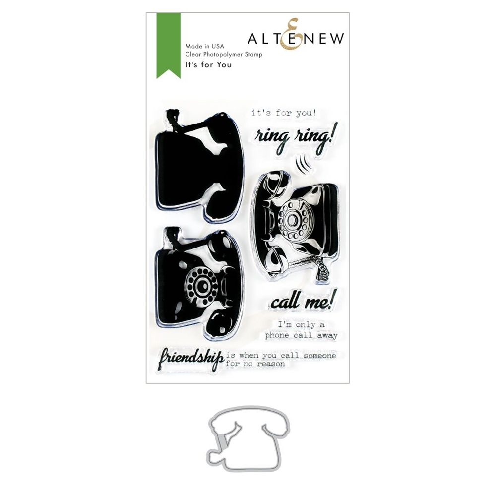 Altenew IT'S FOR YOU Clear Stamp and Die Bundle ALT3491 zoom image