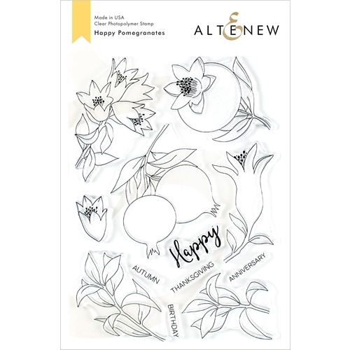 Altenew HAPPY POMEGRANATES Clear Stamps ALT3486 Preview Image