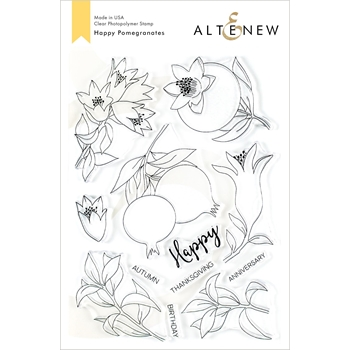 Altenew HAPPY POMEGRANATES Clear Stamps ALT3486