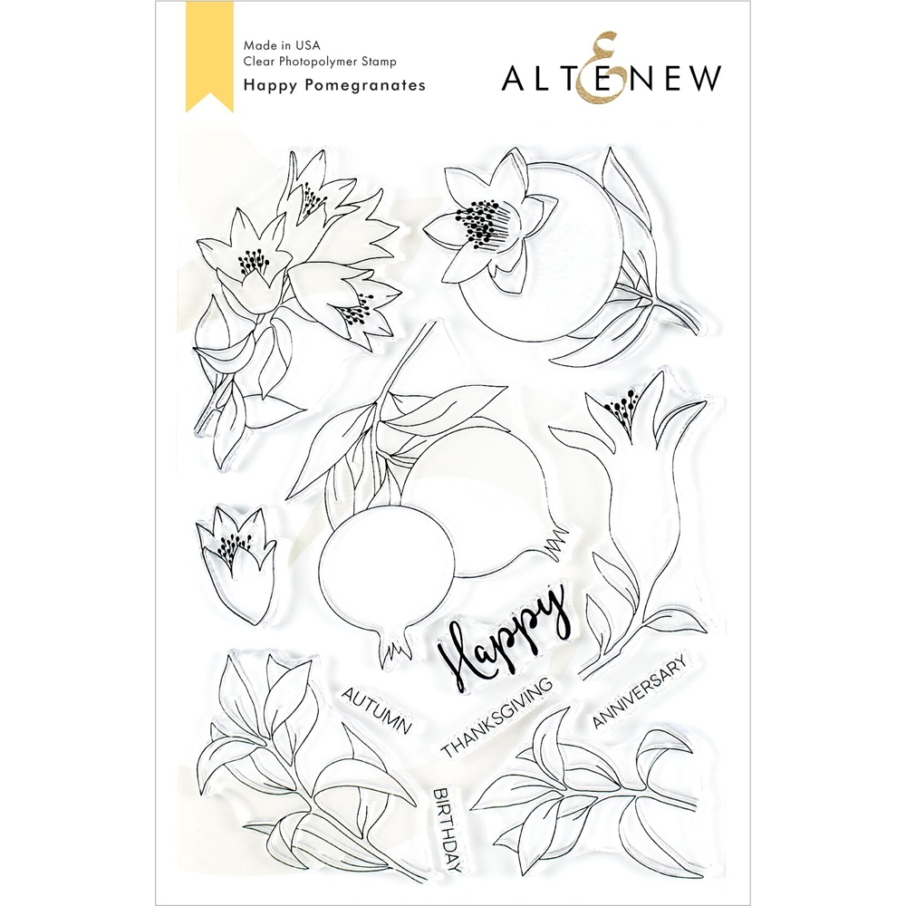 Altenew HAPPY POMEGRANATES Clear Stamps ALT3486 zoom image