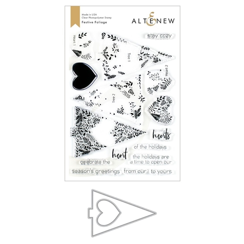 Altenew FESTIVE FOLIAGE Clear Stamp and Die Bundle ALT3484* Preview Image