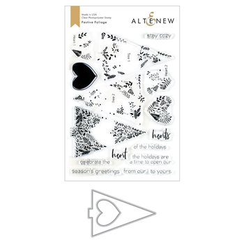 Altenew FESTIVE FOLIAGE Clear Stamp and Die Bundle ALT3484