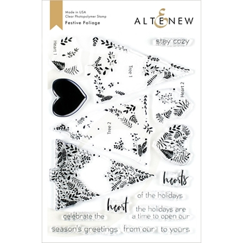 Altenew FESTIVE FOLIAGE Clear Stamps ALT3482