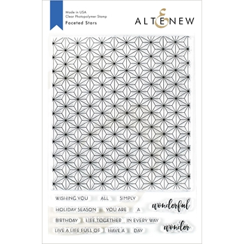 Altenew FACETED STARS Clear Stamps ALT3481