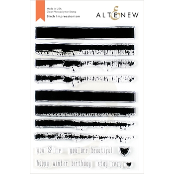 Altenew BIRCH IMPRESSIONISM Clear Stamps ALT3478