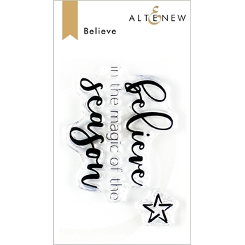 Altenew BELIEVE Clear Stamps ALT3477