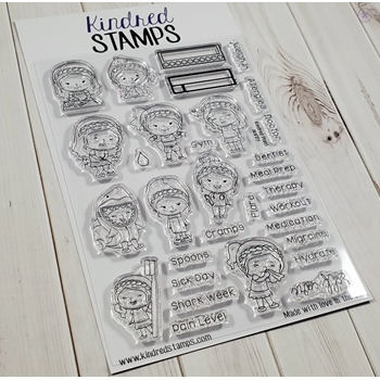 Kindred Stamps HEALTHY Clear Stamps 98488892
