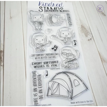Kindred Stamps KINDRED CAMPING Clear Stamps 73298236
