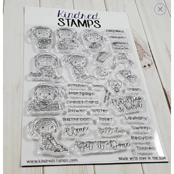 Kindred Stamps KINDRED PLANS ADULTING Clear Stamps 39219516