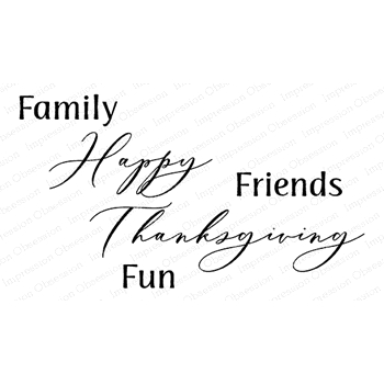Impression Obsession Cling Stamp FAMILY FRIENDS FUN E20750