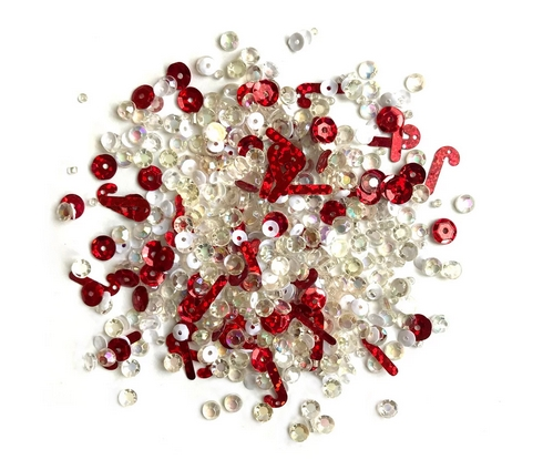 Buttons Galore and More Sparkletz PEPPERMINT STIX Embellishments SPK145 zoom image
