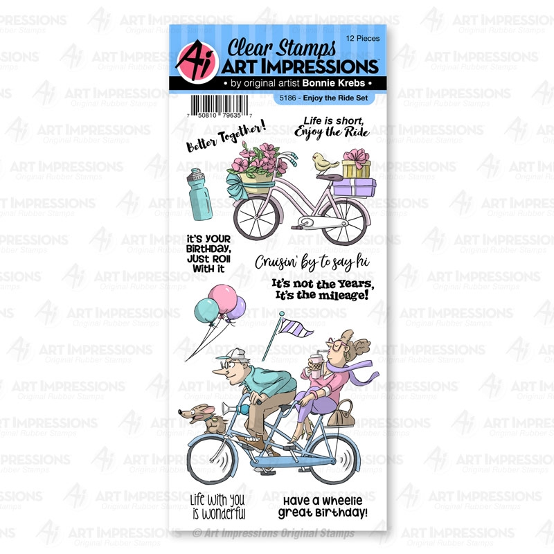 Art Impressions ENJOY THE RIDE Clear Stamps 5186 Work and Play zoom image