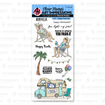 Art Impressions HAPPY TRAILS Clear Stamps 5187 Work and Play