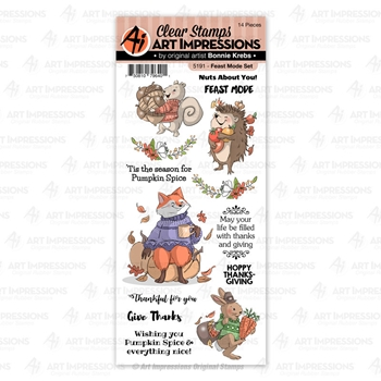 Art Impressions FEAST MODE Clear Stamps 5191