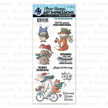 Art Impressions WOODLAND HOLIDAY Clear Stamps 5193*