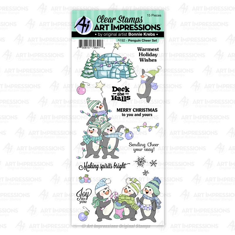 Art Impressions PENGUIN CHEER Clear Stamps 5192 zoom image