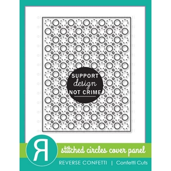 Reverse Confetti Cuts STITCHED CIRCLES Cover Panel Die