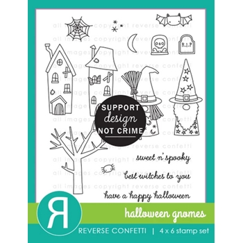 Reverse Confetti HALLOWEEN GNOMES Clear Stamps