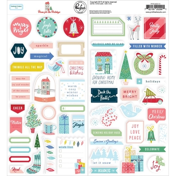 Pinkfresh Studio HOME FOR THE HOLIDAYS Cardstock Stickers pfrc600519