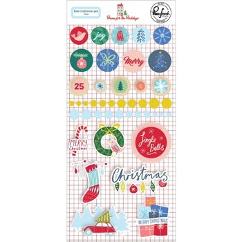 Pinkfresh Studio HOME FOR THE HOLIDAYS Mixed Embellishment Pack pfrc600619