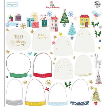 Pinkfresh Studio HOME FOR THE HOLIDAYS Snow Globe Elements pfrc600919
