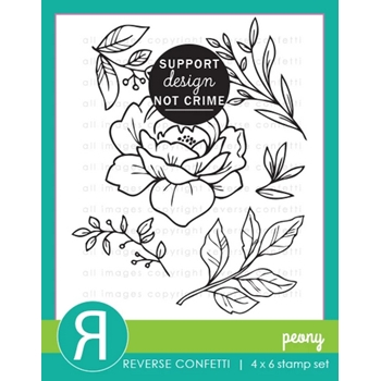 Reverse Confetti PEONY Clear Stamps