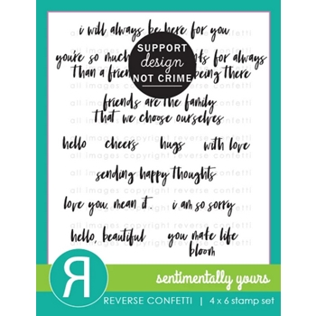 Reverse Confetti SENTIMENTALLY YOURS Clear Stamps