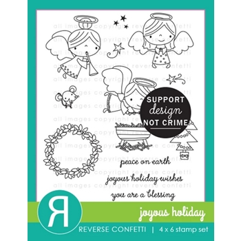 Reverse Confetti JOYOUS HOLIDAY Clear Stamps