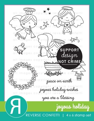 Reverse Confetti JOYOUS HOLIDAY Clear Stamps zoom image