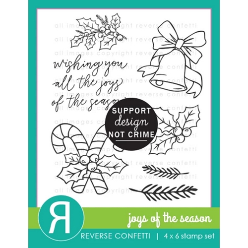 Reverse Confetti JOYS OF THE SEASON Clear Stamps Preview Image