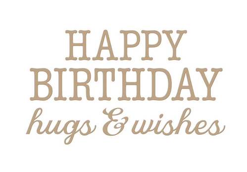 GLP-144 Spellbinders BIRTHDAY HUGS AND WISHES Glimmer Hot Foil Plates Preview Image