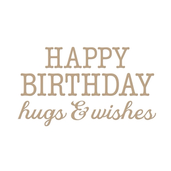 GLP-144 Spellbinders BIRTHDAY HUGS AND WISHES Glimmer Hot Foil Plates