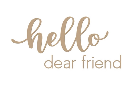 GLP-143 Spellbinders HELLO DEAR FRIEND Glimmer Hot Foil Plates Preview Image