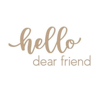 GLP-143 Spellbinders HELLO DEAR FRIEND Glimmer Hot Foil Plates