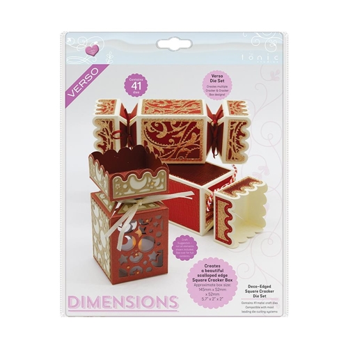 Tonic DECO EDGED SQUARE CRACKER BOX Verso Die 2756e Preview Image