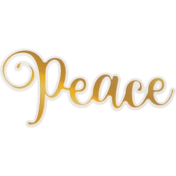 Couture Creations PEACE Cut, Foil And Emboss Die co726939