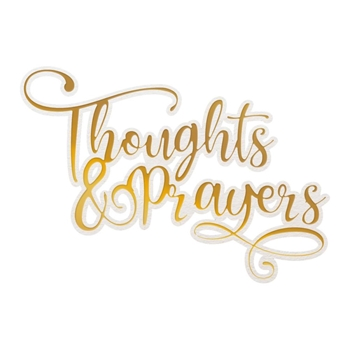 Couture Creations THOUGHTS AND PRAYERS Cut, Foil And Emboss Die co726948