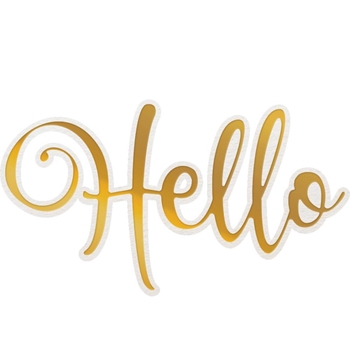 Couture Creations HELLO Cut, Foil And Emboss Die co726950