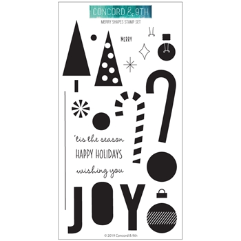 Concord & 9th MERRY SHAPES Clear Stamp Set 10690