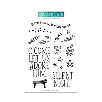 Concord & 9th SILENT NIGHT Clear Stamp Set 10697