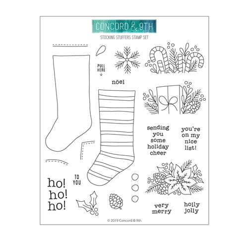 Concord & 9th STOCKING STUFFERS Clear Stamp Set 10700 Preview Image
