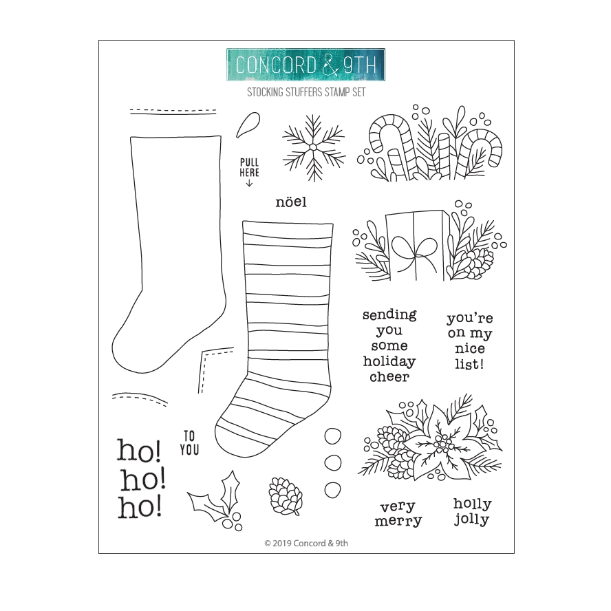 Concord & 9th STOCKING STUFFERS Clear Stamp Set 10700 zoom image