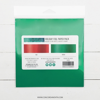 Concord & 9th HOLIDAY FOIL Paper Pack 10688