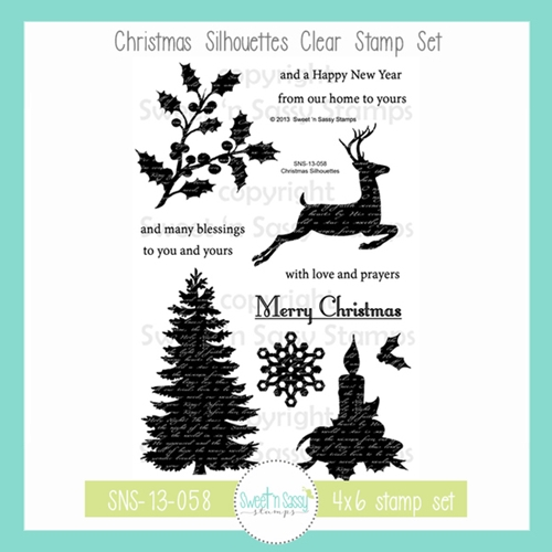 Sweet 'N Sassy CHRISTMAS SILHOUETTES Clear Stamp Set sns-13-058 Preview Image