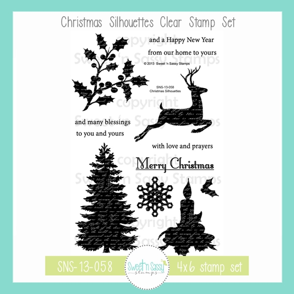 Sweet 'N Sassy CHRISTMAS SILHOUETTES Clear Stamp Set sns-13-058 zoom image