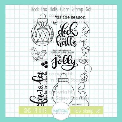 Sweet 'N Sassy DECK THE HALLS Clear Stamp Set sns-19-048 Preview Image