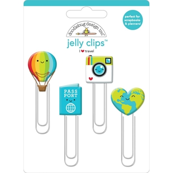 Doodlebug I HEART TRAVEL Jelly Clips Paper Clip 6369